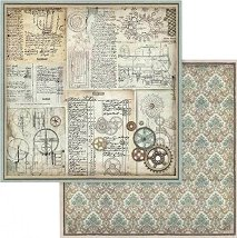 Хартии за скрапбукинг - Стари надписи и елементи - Размери 30.5 х 30.5 cm