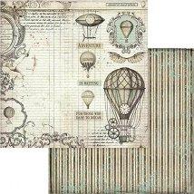 Хартии за скрапбукинг - Летящи балони - Размери 30.5 х 30.5 cm