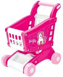 """Детска количка за пазаруване - Unicorn - Играчка от серията """"Еднорог"""" - играчка"""