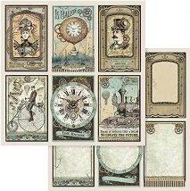 Хартии за скрапбукинг - Антично време - Размери 30.5 х 30.5 cm
