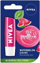 Nivea Watermelon Shine Lip Balm - Балсам за устни с аромат на диня - боя