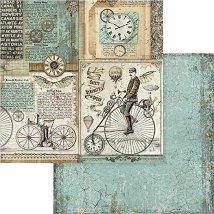 Хартии за скрапбукинг - Колела - Размери 30.5 х 30.5 cm