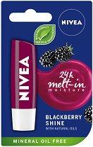 Nivea Blackberry Shine Lip Balm - Балсам за устни с аромат на къпина - червило