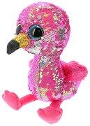 """Фламинго - Pinky - Плюшена играчка с пайети от серията """"Flippables"""" - раница"""