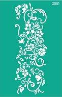 Самозалепващ шаблон - Цветя - Размери 13 х 20 cm