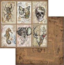 Хартии за скрапбукинг - Животни - Размери 30.5 х 30.5 cm