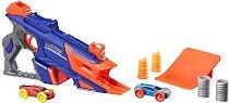 """Нитро бластер-изстрелвачка с дълга цев - Longshot Smash - От серията """"Nerf Nitro"""" - количка"""