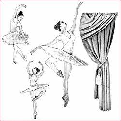 Декупажна хартия - Балерина - Размери 50 x 50 cm