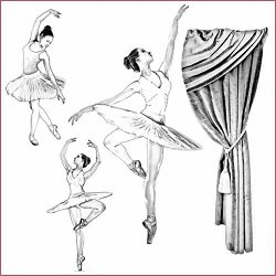 Декупажна хартия - Балерина