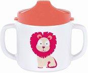 Меламинова чаша с дръжки и твърд накрайник - Wildlife Lion - За бебета над 6 месеца -