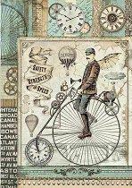 Декупажна хартия - Старинно колело - Формат А4