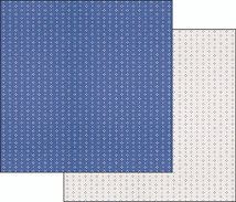 Хартии за скрапбукинг - Син и бял цвят - Размери 30.5 х 30.5 cm