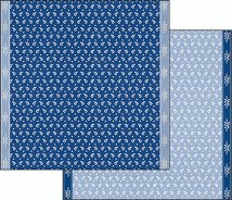 Хартии за скрапбукинг - Бели цветенца - Размери 30.5 х 30.5 cm