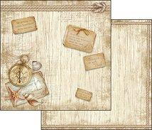 Хартии за скрапбукинг - Пътуване - Размери 30.5 х 30.5 cm