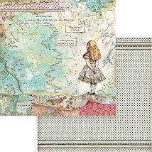 Хартии за скрапбукинг - Алиса - Размери 30.5 х 30.5 cm