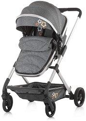 Комбинирана бебешка количка - Noma - С 4 колела -
