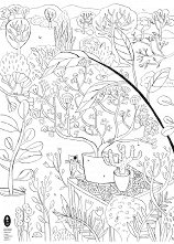 Плакат за оцветяване: Моята градина - част 1 -