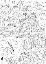 Плакат за оцветяване: Моята градина - част 2 -