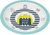 Детска меламинова чиния за хранене - Little Monsters Bouncing Bob -