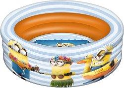 """Надуваем бебешки басейн - Миньоните - С диаметър ∅ 100 cm от серията """"Аз, проклетникът"""" -"""