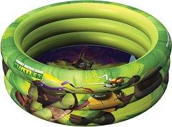 """Надуваем бебешки басейн - Костенурките Нинджа - С диаметър ∅ 100 cm от серията """"Костенурките Нинджа"""" -"""