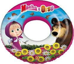 """Надуваем бебешки пояс - Маша и мечока - С външен диаметър ∅ 50 cm от серията """"Маша и Мечока"""" - играчка"""