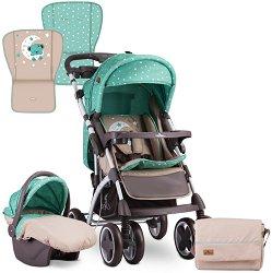 Бебешка количка 2 в 1 - Toledo Set 2019 - С 4 колела -
