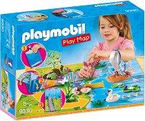 """Преносим комплект - Градината на феите - Детски конструктор от серията """"Playmobil: Play Map"""" - играчка"""