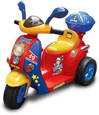 Детски акумулаторен мотор - Oto King - С багажник и 3 колела -