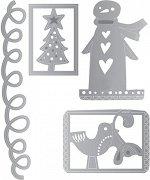 Щанци за машина за изрязване и релеф - Коледа - Комплект от 4 части с размери от 4.1 до 8.5 cm