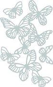 Щанци за машина за изрязване и релеф - Пеперуди - Комплект от 3 части с размери от 1.9 до 12.3 cm