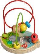 Лабиринт с дървени мъниста - Коте - играчка