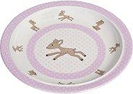 Детска меламинова чиния за хранене - Lela - За бебета над 6 месеца -