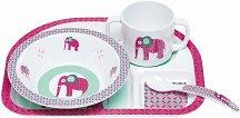 Детски комплект за хранене - Wildlife Elephant - За бебета над 6 месеца -