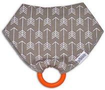 Лигавник тип бандана с дъвкалка - Herringbone - За бебета над 3 месеца -