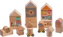 Детски дървен конструктор - Комплект от 25 или 35 части -