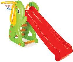 Детска пързалка с баскетболен кош - Слонче - играчка