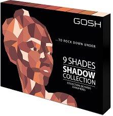 Gosh 9 Shades to Rock Down Under - Палитра с 9 цвята сенки за очи -