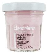 Blancreme Mousse Face Masks With Strawberry - Витализираща мус маска за лице с екстракт от ягода в стъклено бурканче -