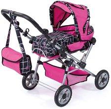 Количка за кукли - Trend Setter - С кошче за бебе и чанта за аксесоари -