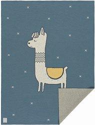 Бебешко памучно одеяло - Glama Lama - Размер 75 x 100 cm -