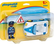 """Полицейска кола - Мини фигура от серията """"Playmobil: 1.2.3"""" - играчка"""