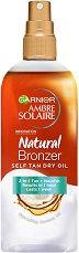 Garnier Ambre Solaire Natural Bronzer Self Ten Dry Oil - Сухо олио за изкуствен тен за тяло - продукт