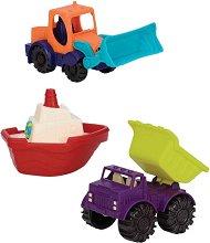 Багер, Кораб и Самосвал - Детски играчки -