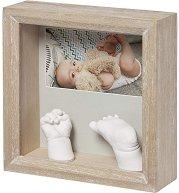 """Дървена рамка за снимка и отливка - My Baby Sculpture - От серия """"Wooden"""" -"""