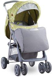 Лятна бебешка количка - Terra 2019 - С 4 колела и покривало за крачета -