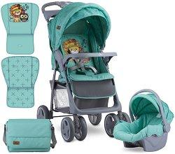 Бебешка количка 2 в 1 - Foxy Set 2019 - С 4 колела -