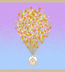 """Бебешка бамбукова пелена - Балон - Размери 75 x 75 cm от серията """"Bamboo Line"""" -"""