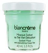 Blancreme Sorbet Mask with Detoxifying Green Tea - Детоксикираща маска за лице със зелен чай в стъклено бурканче - пяна