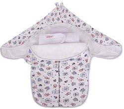 Бебешка пелена-чувалче - Комплект с предпазител за кръст -